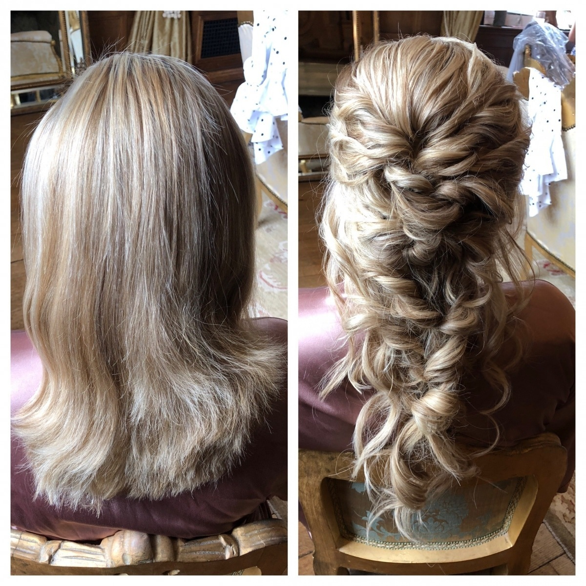 Before and After Wedding Hair - Gemma Sutton