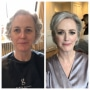 Before and after - Mother of the bride
