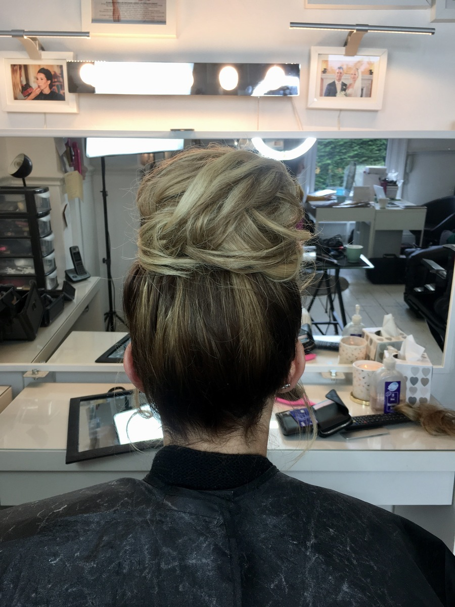 hair bun - wedding - Gemma Sutton