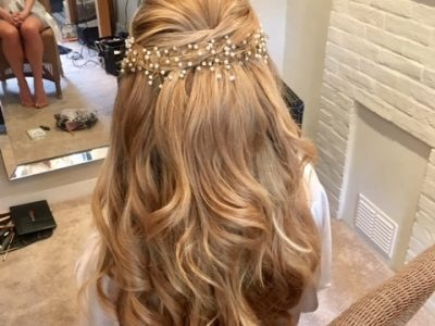wedding hair - half up half down - Gemma Sutton