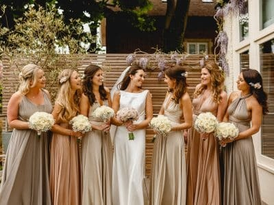 Camilla and bridesmaids - Wimbledon Wedding