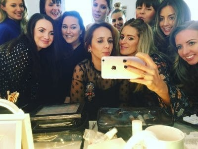 The Gemma Sutton Pro Team training to be the best makeup artists they can be xx